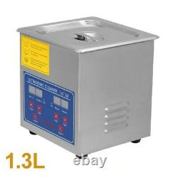 1.3L Ultrasonic Cleaner Stainless Steel Cleaning Machine JPS-08A 220V