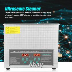 10L Digital Stainless Steel Ultrasonic Cleaner Cleaning Machine UK Plug 220V