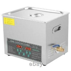 10L Digital Stainless Ultrasonic Cleaner Ultra Sonic Cleaning Tank Timer Heater