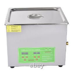 10L Digital Ultrasonic Cleaner Timer Heater Professional Stainless Steel Tank UK