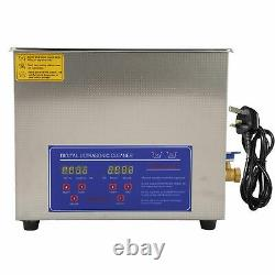 10L Digital Ultrasonic Cleaner Timer Stainless Ultra Sonic Cleaning Bath Tank