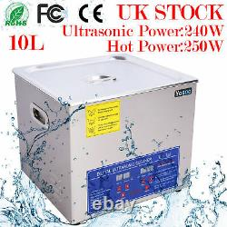 10L Professional Digital Stainless Ultrasonic Cleaner Bath with Tank Timer Heater