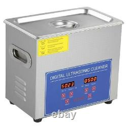 10L Stainless Ultrasonic Cleaner Ultra Sonic Bath Cleaning Tank Timer Heater