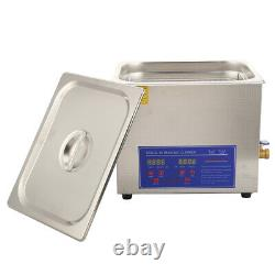 10L Ultrasonic Cleaner Stainless Steel Digital Clean Tank for Coin Nail Cleaning