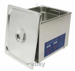10L Ultrasonic Cleaner Timer Heater Stainless Digital Free Basket 110/220V N xb