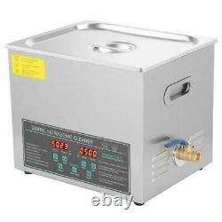 10l Digital Stainless Steel Ultrasonic Cleaner Bath Cleaning Tank Timer Heate