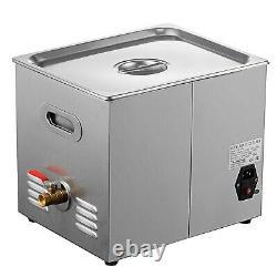 10l Digital Stainless Ultrasonic Cleaner Ultra Sonic Bath Tank Timer Heat Basket