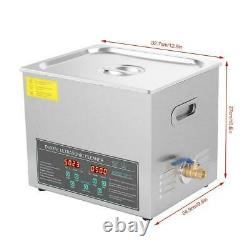 10l Digital Stainless Ultrasonic Cleaner Ultra Sonic Cleaning Timer Heate New