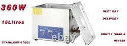 15 Litres Professional Digital Ultrasonic Cleaner Stainless Steel 15l Next Day