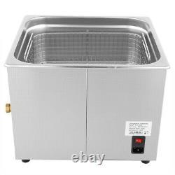 15L Digital Stainless Ultrasonic Cleaner Bath Heater Tank Timer Heat EU Plug New