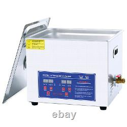 15L Digital Stainless Ultrasonic Cleaner Ultra Sonic Cleaning Bath Timer Basket