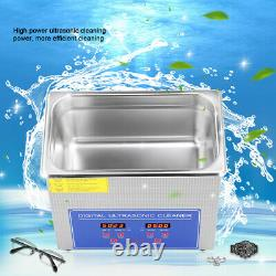 15L Digital Ultra Sonic Cleaner Bath Timer Stainless Tank Cleaning 355x330x280mm