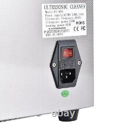 15L Digital Ultrasonic Cleaner Heater Timer Stainless Steel Tank Industry&Home