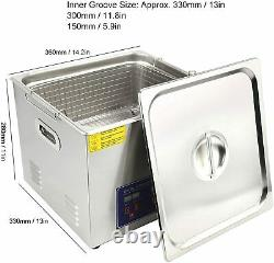 15L Professional Digital Ultrasonic Cleaner Timer Heater 304 Stainless Steel