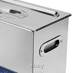15L Stainless Steel Digital Ultrasonic Cleaner Ultra Sonic Tank Bath Heater Time