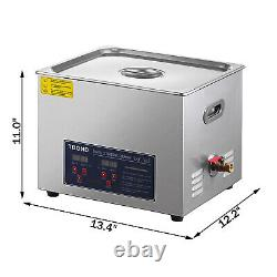 15L Stainless Ultrasonic Cleaner Ultra Sonic Bath Cleaning Timer Tank Heat