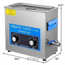 15L Ultrasonic Cleaner Stainless Steel Professional Knob Control with HeaterTimer