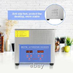 15l Stainless Steel Ultrasonic Cleaner Ultra Sonic Bath Cleaning Tank Heater Set