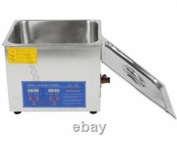 1Pc 1.3L Stainless Digital Ultrasonic Cleaner Machine New wm