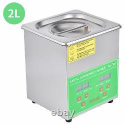 220V 50Hz Digital Ultrasonic Cleaner Timer Stainless Steel Cotainer 2/3/6/10/15L