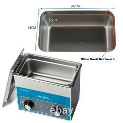 220V Stainless Steel 3L Liter Industry Heated Ultrasonic Cleaner Heater + Timer