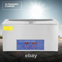 22L Digital Stainless Ultrasonic Cleaner Bath Cleaning Tank Jewelry Washing Tool