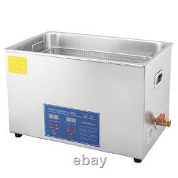 22L Digital Stainless Ultrasonic Cleaner Bath Cleaning Tank Timer Heater Basket