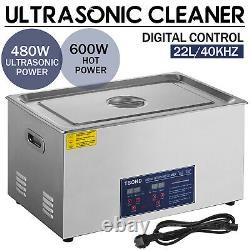 22L Digital Ultrasonic Cleaner Stainless Ultra Sonic Bath Cleaner Tank Heater UK