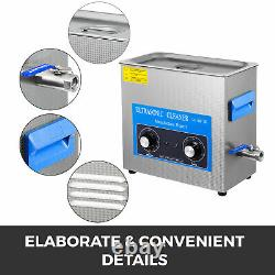 22L Knob Stainless Ultrasonic Cleaner Ultra Sonic Bath Cleaner Tank Timer Heat