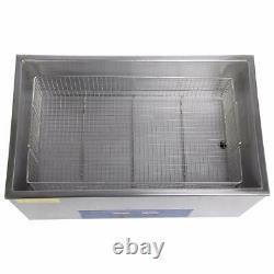 22L Ultrasonic Cleaner Stainless Steel Digital Bath Heater Timer Ultra Sonic UK