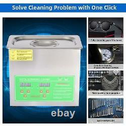 2L/3L/6L/10L/15L Ultrasonic Cleaner Timer Digital Stainless Steel with Gloves UK
