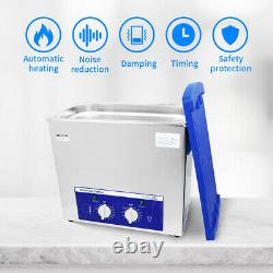 2L 6L 10L 15L Stainless Steel Ultrasonic Cleaner Industry Heated Heater Machine