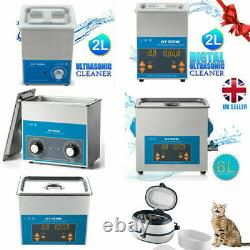 2L-6L Digital Stainless Ultrasonic Cleaner Timer Tank Gold Coin Bath Machine