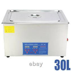 30 Litre Stainless Ultrasonic Cleaner Ultra Sonic Bath C3leaning Tank Timer Tool
