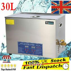 30L 600w Digital Heated Stainless Ultrasonic Parts Cleaner Tank Timer& Basket CE