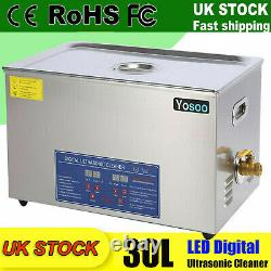 30L Digital Stainless Steel Timer&Heater Ultrasonic Cleaner Cleaning Bath Tank