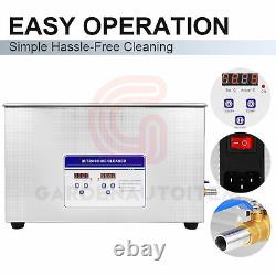 30L Digital Stainless Ultrasonic Cleaner Sonic Bath Cleaning Tank Timer Heater