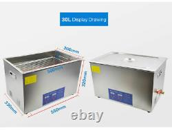 30L Digital Stainless Ultrasonic Cleaner Ultra Sonic Cleaning Tank Basket CE FCC