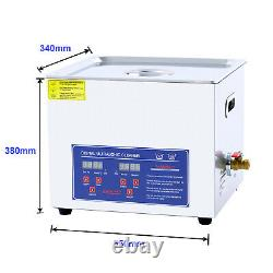 30L Digital Ultrasonic Bath Cleaner Stainless Steel Cleaning Tank Timer Heater
