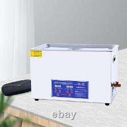 30L Digital Ultrasonic Cleaner Stainless Ultrasound Timer Heater Tank Washer New