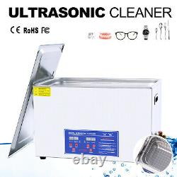 30L Digital Ultrasonic Cleaner Timer Heater Stainless Steel Bath Cleaning Tank