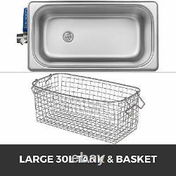 30L Knob Ultrasonic Cleaner 40KHz Stainless Steel Dental Washing Machine