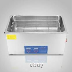 30L Ultrasonic Cleaner Heater Timer Bracket Jewelry Cleaning Digital Stainless