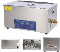30L Ultrasonic Cleaner Stainless Steel Digital Bath Heater Timer Ultra Sonic