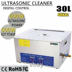 30l Digital Stainless Steel Ultrasonic Cleaner Bath Cleaning Tank Timer Heater