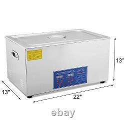 30l Stainless Ultrasonic Cleaner Ultra Sonic Bath Cleaning Tank Timer Heat