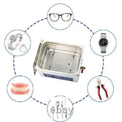 360W Stainless Digital Ultrasonic Cleaner 15L Timer Cleaning Tank Basket Tank