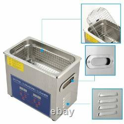 3L/120W Digital Stainless Ultrasonic Cleaner Sonic Cleaning Machine Basket Timer
