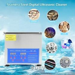 3L 220V Digital Ultrasonic Cleaning Machine Bath Timer Stainless Tank Cleaner