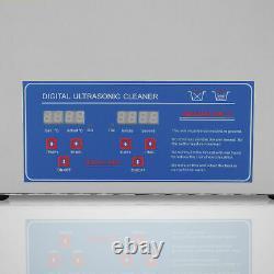 3L-30L Digital Stainless Ultrasonic Cleaner Bath Jewelry Tank Timer Heater 220V